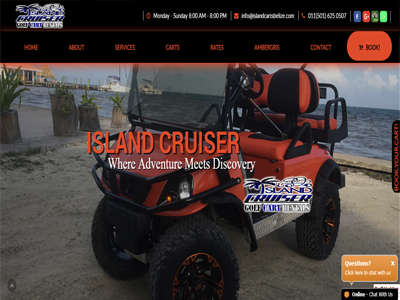 A Golf Cart Rentals Website made by Nouva Web Design and Development